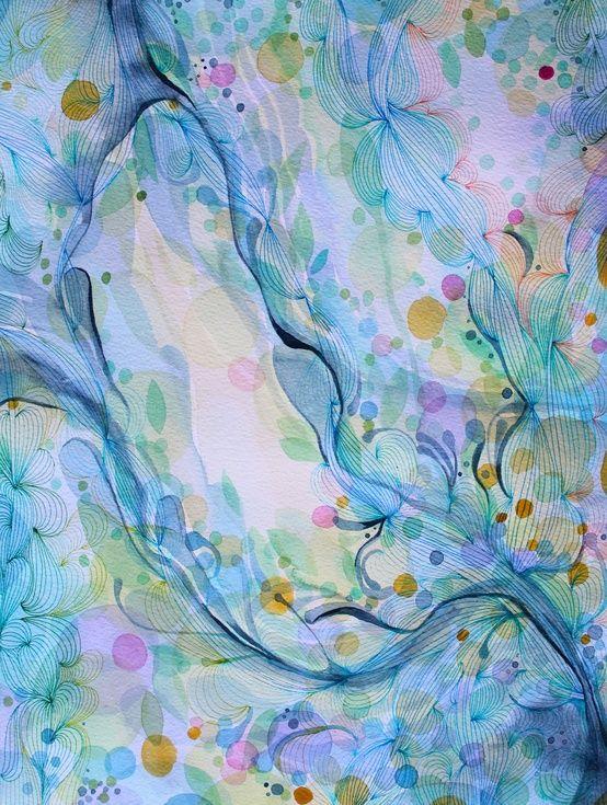 Flow, 2014 by Helen Wells | Art painting, Art inspiration ...
