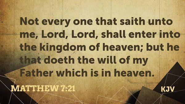 Daily Bible Verse Matthew 7:21, 28-29   Bible verse for ...
