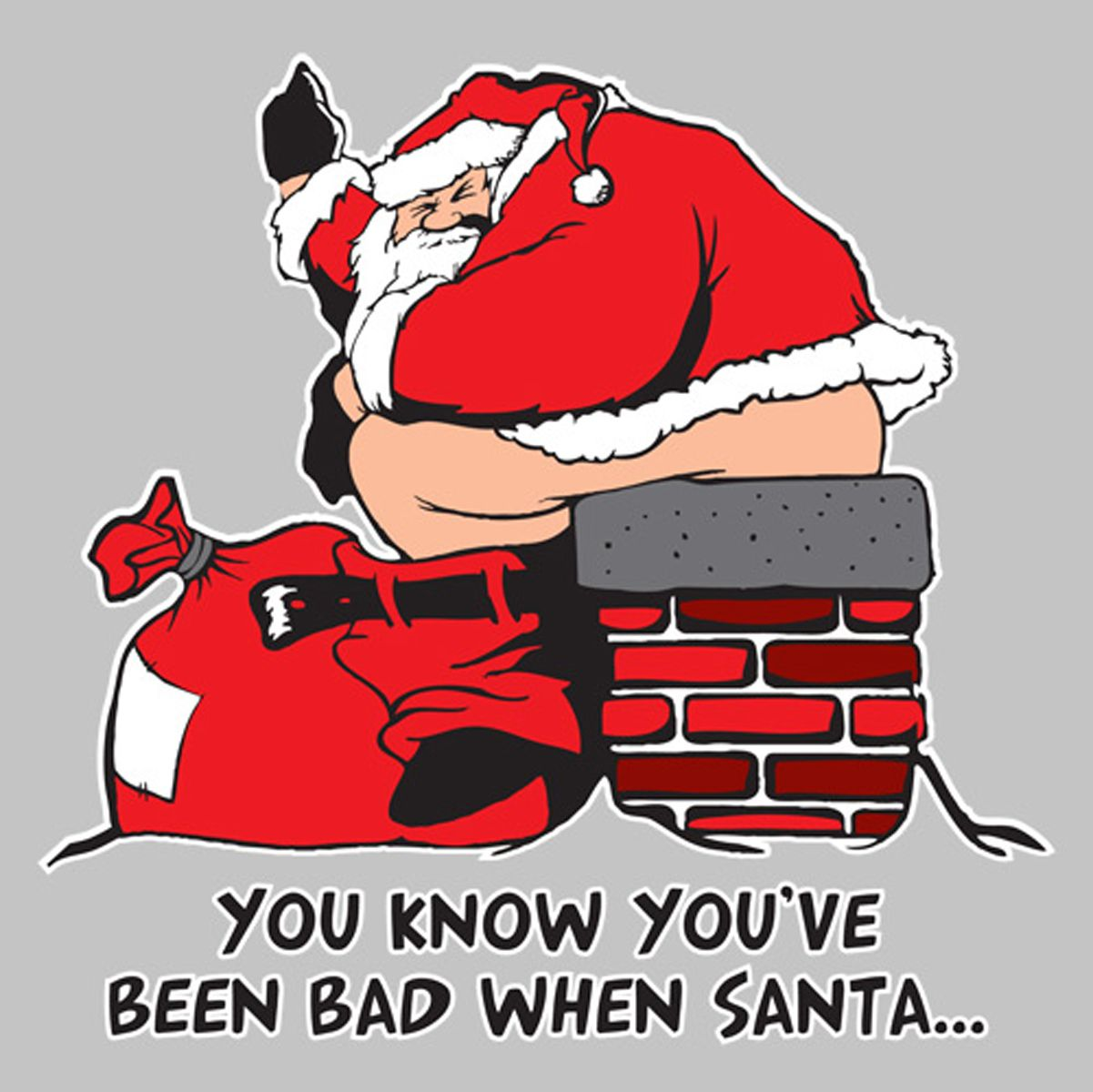 you know you have been bad when SANTA...!!!! I know I know ...