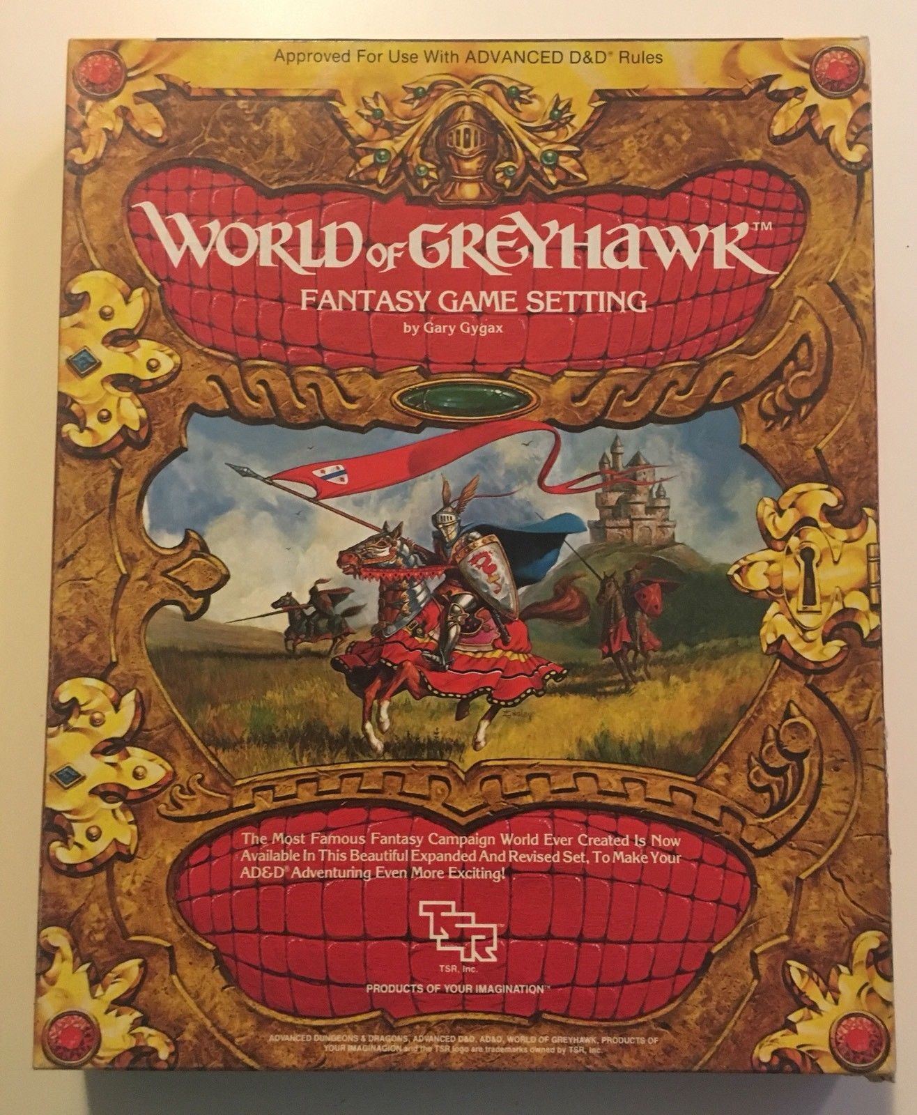 Greyhawk Box Set - from 1983. All materials included (2 ...