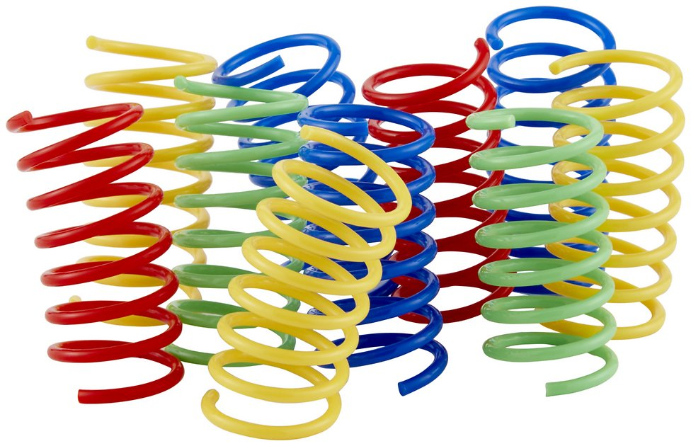 Buy Frisco Colorful Springs Cat Toy, 10-pack at Chewy.com ...