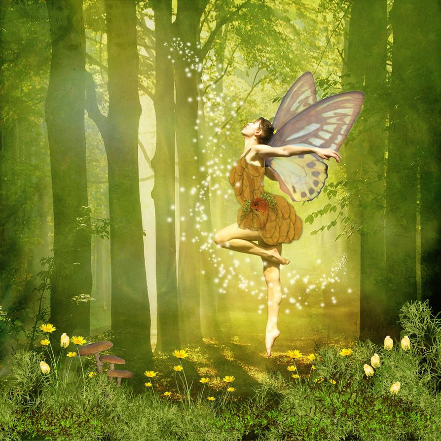Forest Faery Greets the Sun by Digimaree   Faeries, Forest ...