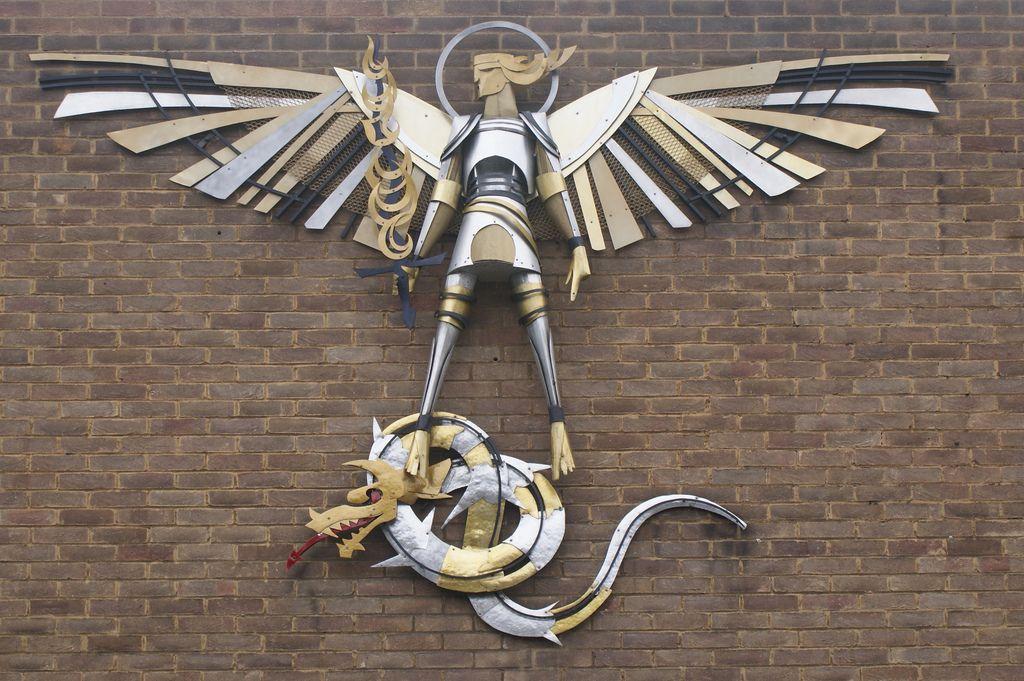 St Michael & The Dragon   St michael, Dragon sculpture, Saints