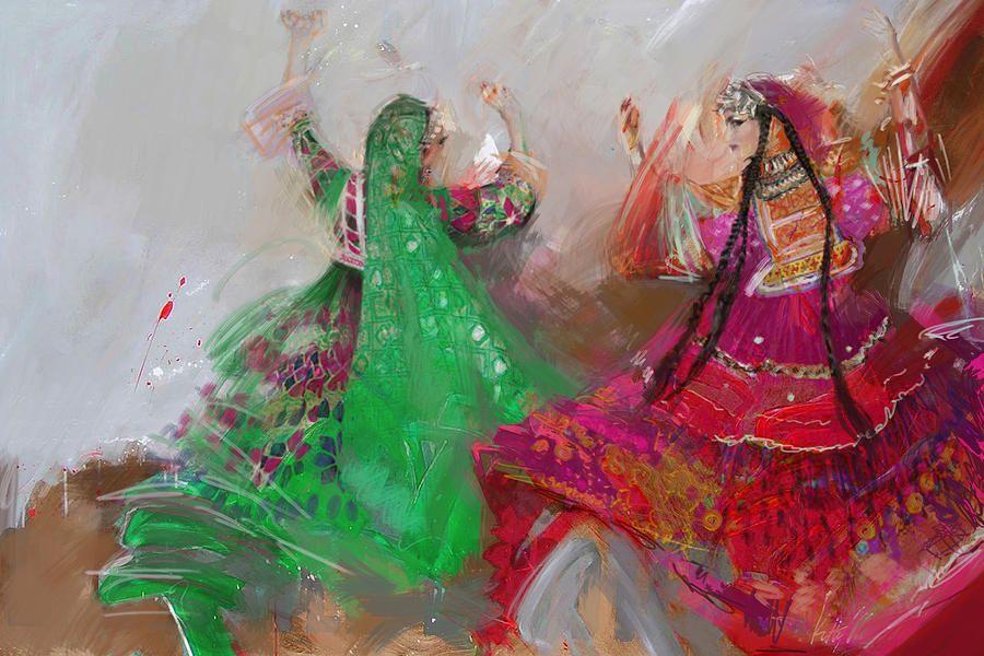 003 Pakhtun B by Maryam Mughal in 2020 | Art, Pakistani ...