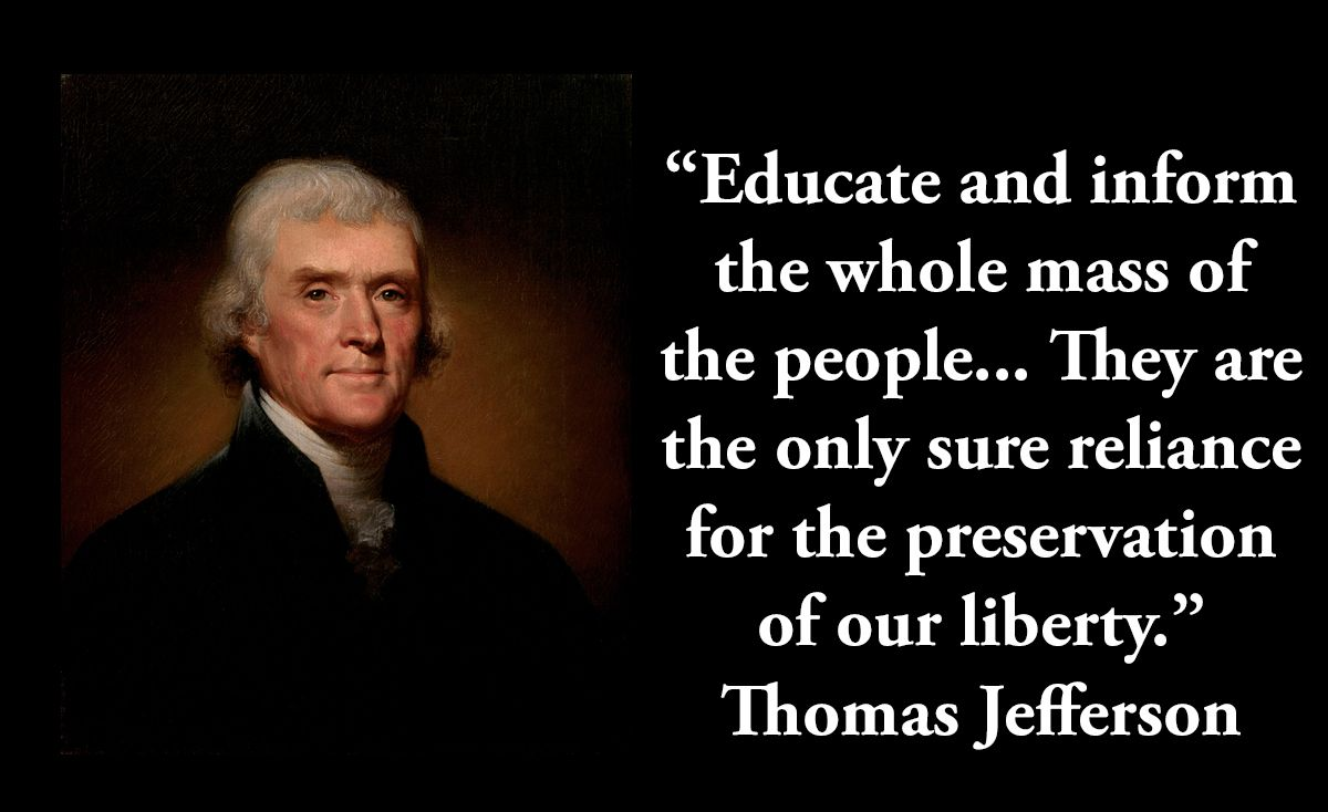 Thomas Jefferson, 3rd president, on liberty. | Jefferson ...
