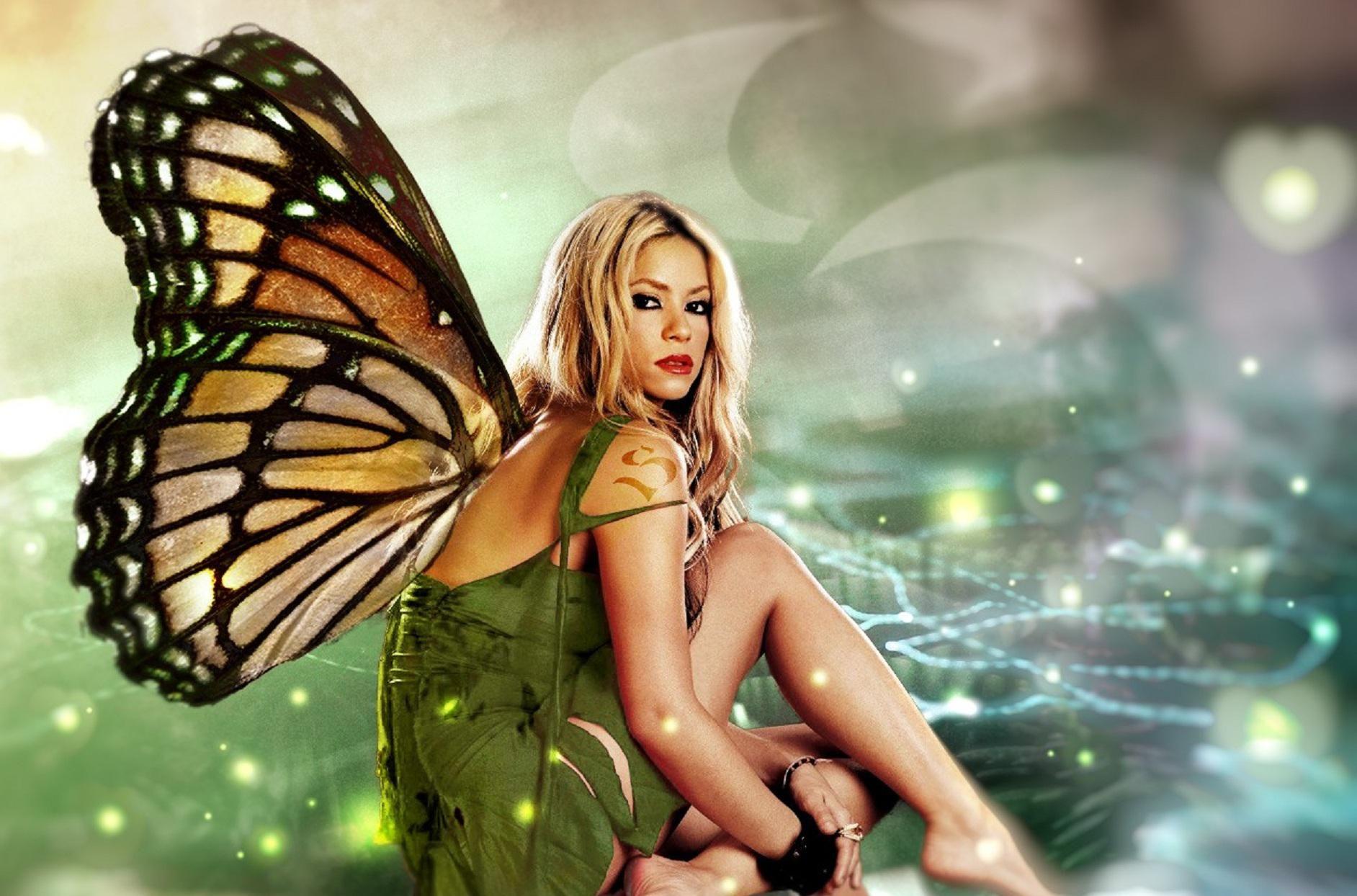 Shakira as Butterfly. MK Ultra Project MONARCH symbolism ...