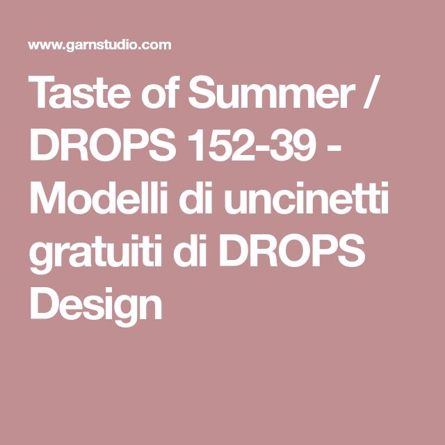 Taste of Summer / DROPS 152-39 - Modelli di uncinetti ...