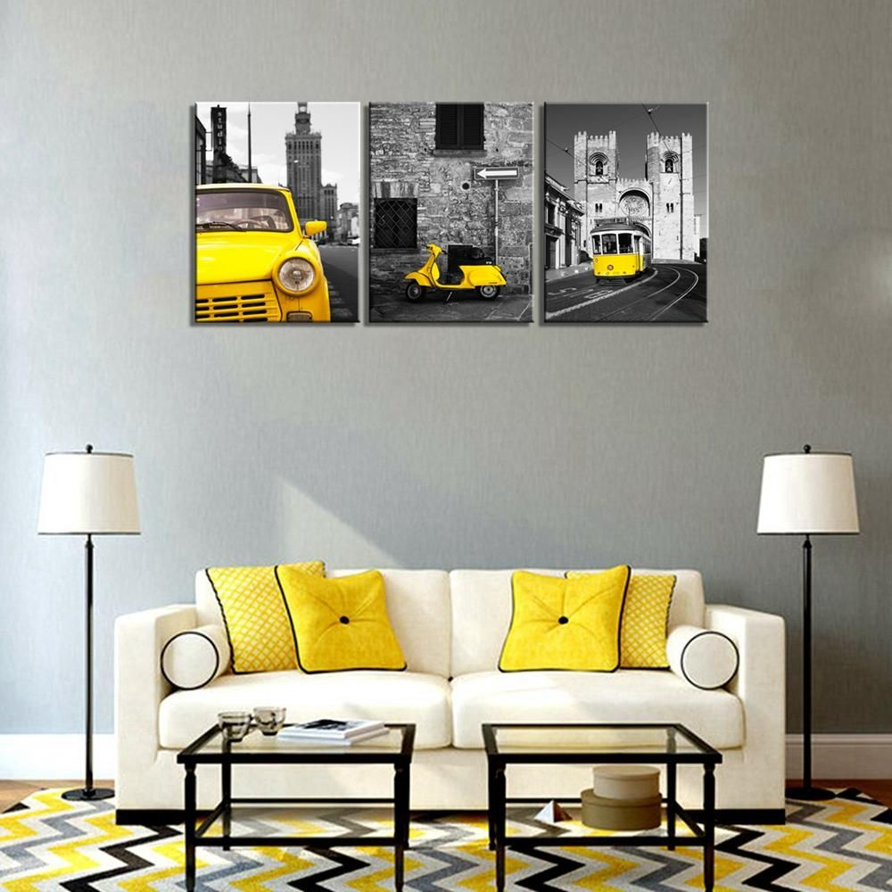 Black and Yellow Wall Decor – A Powerful Color Theme