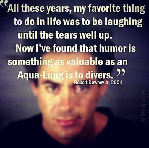 Humor quote from Robert Downey Jr