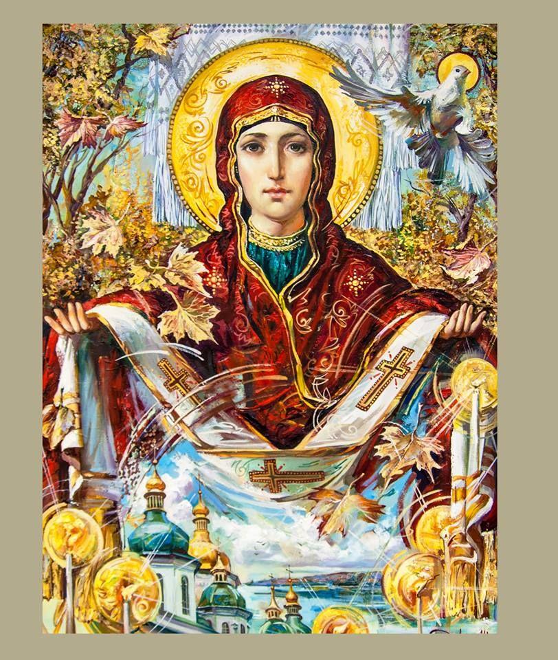 Intercession of the Theotokos Holy Virgin Mary | Християни, Малюнок, Живопис
