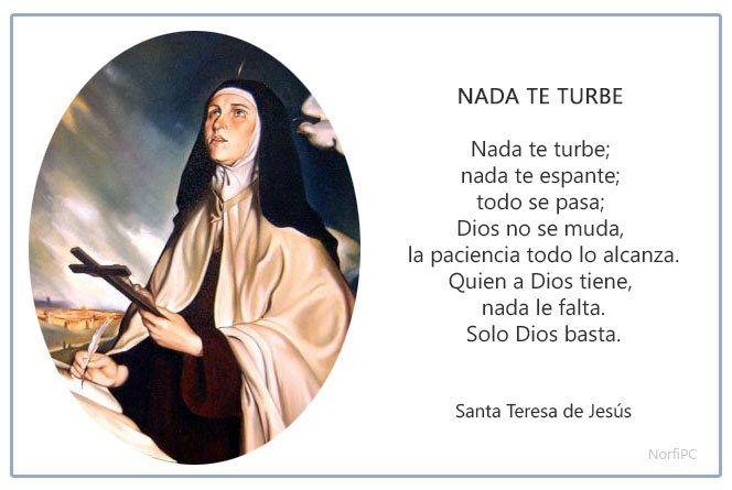 Frases y poemas cristianos de Santa Teresa de Jesús ...