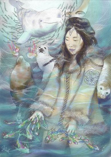 Sedna - Goddess Of the Sea. . Inuit mythology. . | Goddess ...