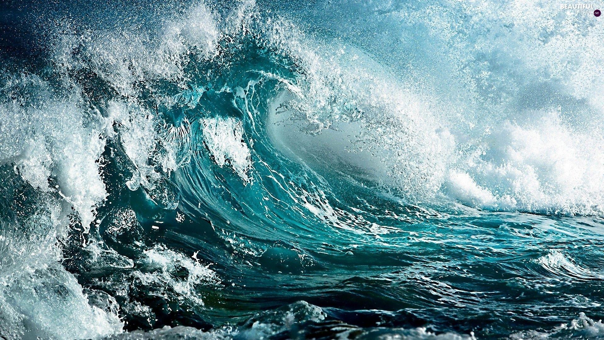 Roaring waves | Waves wallpaper, Ocean waves, Waves