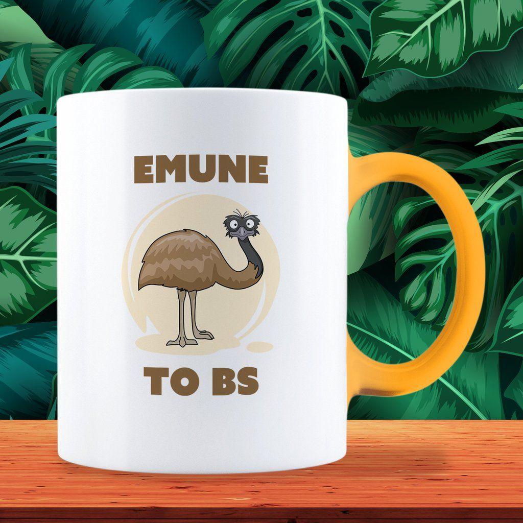 "Funny Australian ""Emune To BS"" Emu Mug in 2020 | Funny ..."