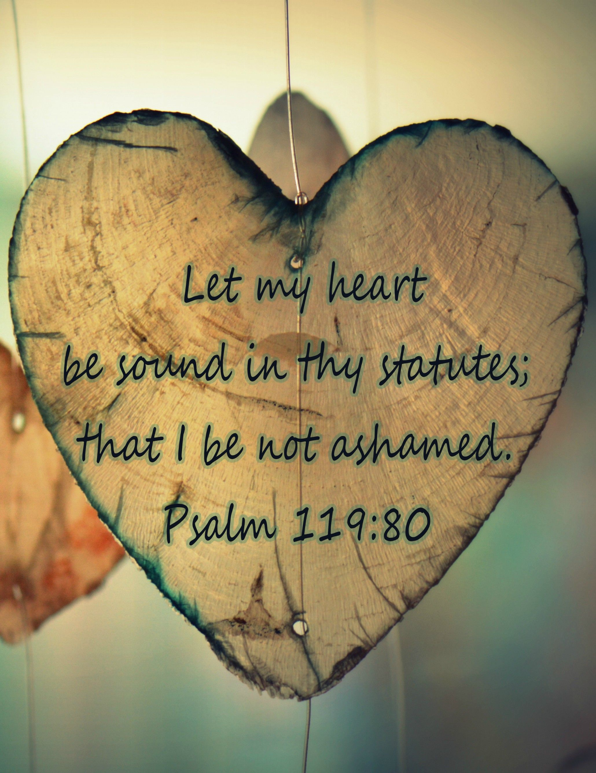 Psalm 119:80 (KJV) Let my heart be sound in thy statutes ...