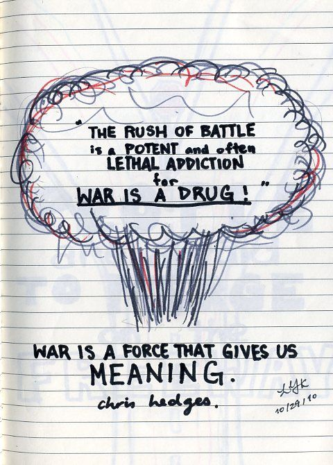 Battling Addictions Quotes | the rush of battle is a ...