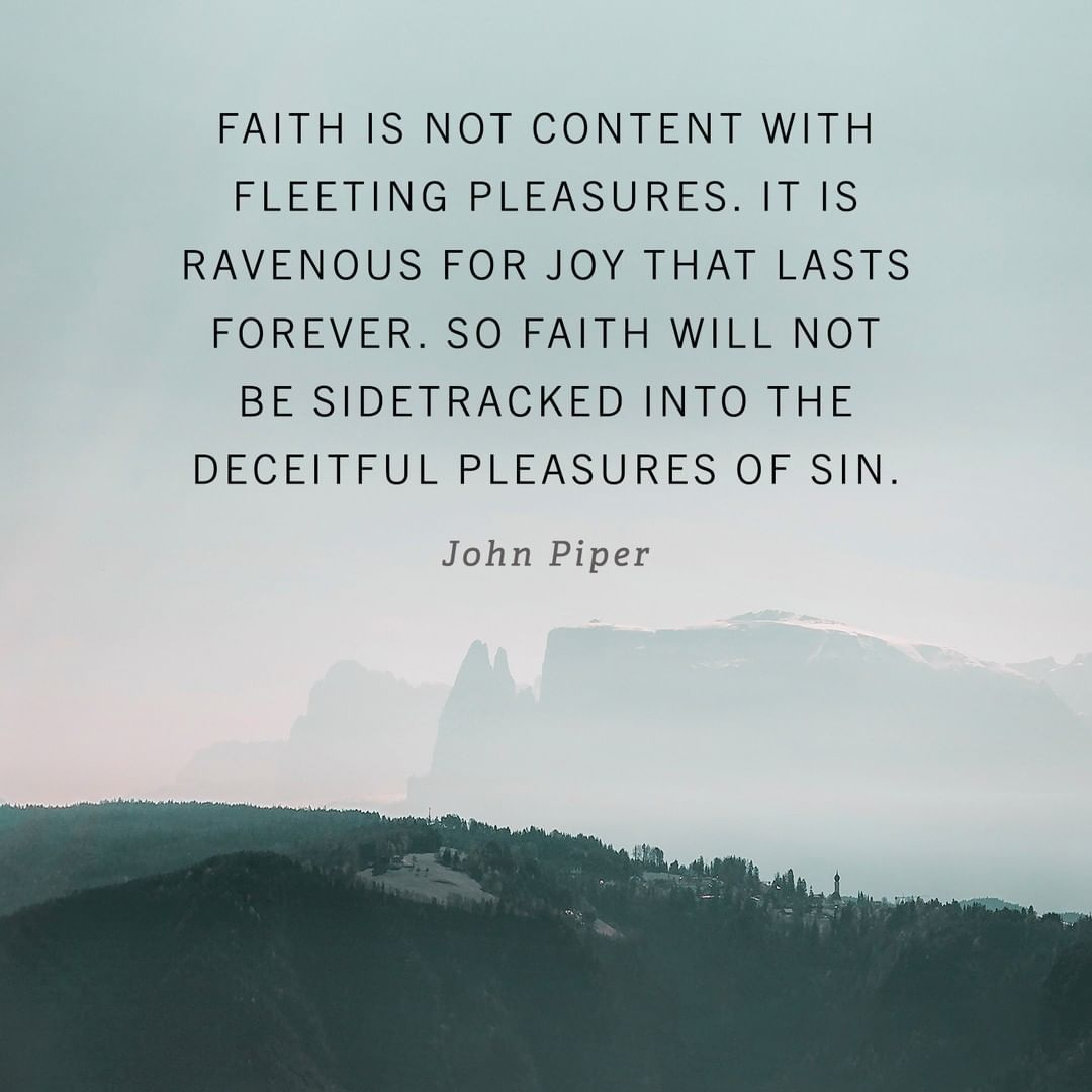 """Desiring God on Instagram: """"Faith is not content with ..."""