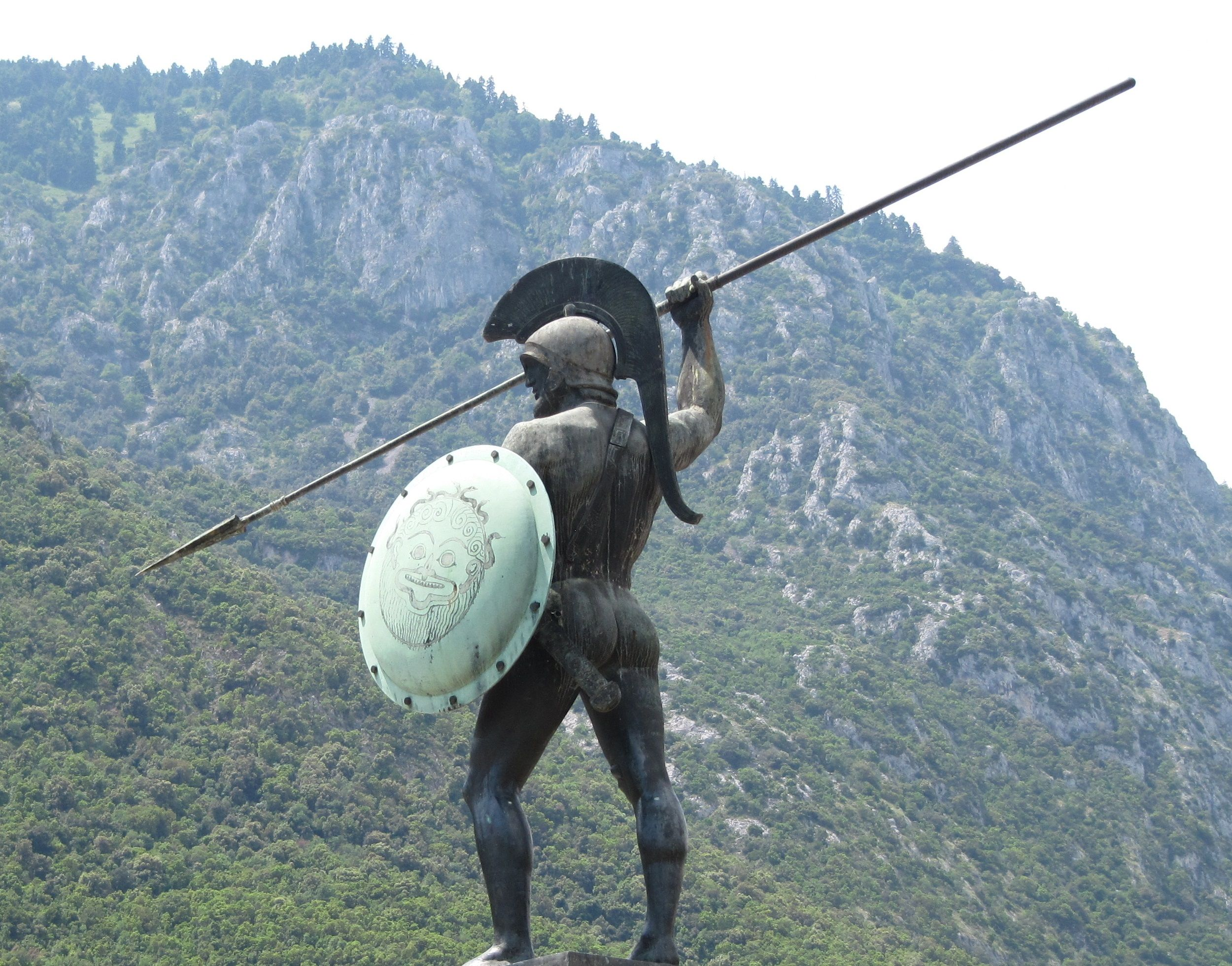The statue of Leonidas in Thermopylae, Greece,   Ancient ...