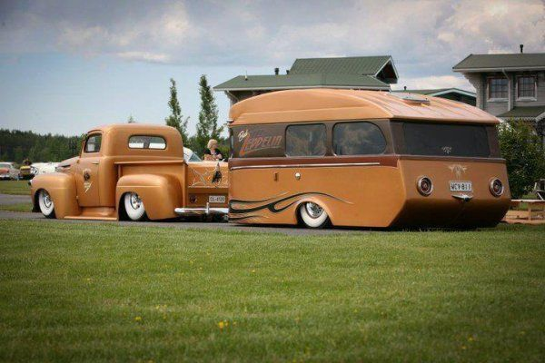 american pick up ! | Caravanes, roulottes, Camping car ...