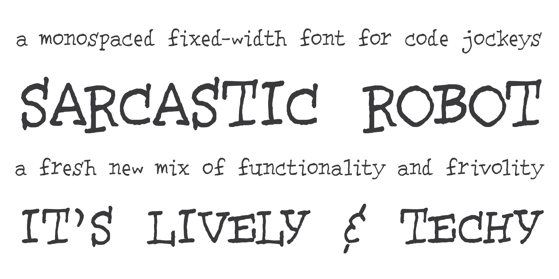free font: Sarcastic Robot -- love that name! (already downloaded) | Lettering, Cool fonts ...