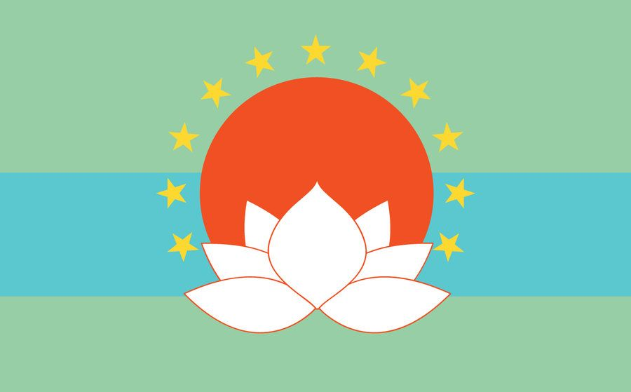 "By Julie Bollinger. ""I fell in love with the flag of Hong ..."