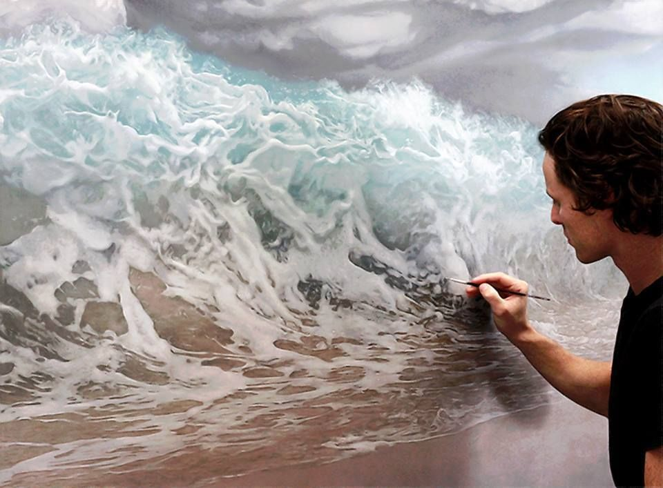 Painting the ocean. Joel Rea, Queensland, Australia ...