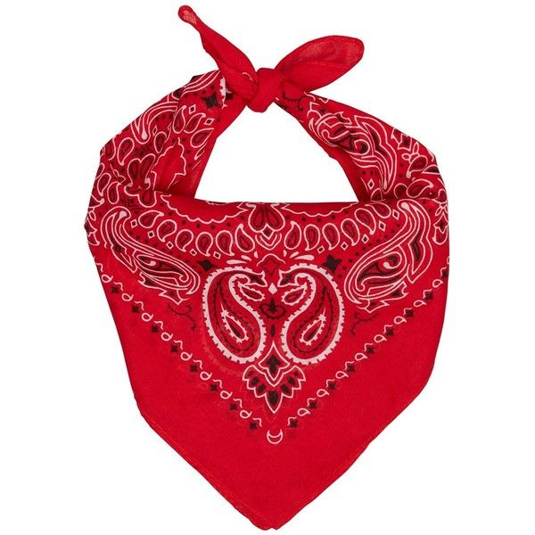 WESTERN BANDANA RED ($10) liked on Polyvore featuring accessories, scarves, bandana, hats ...