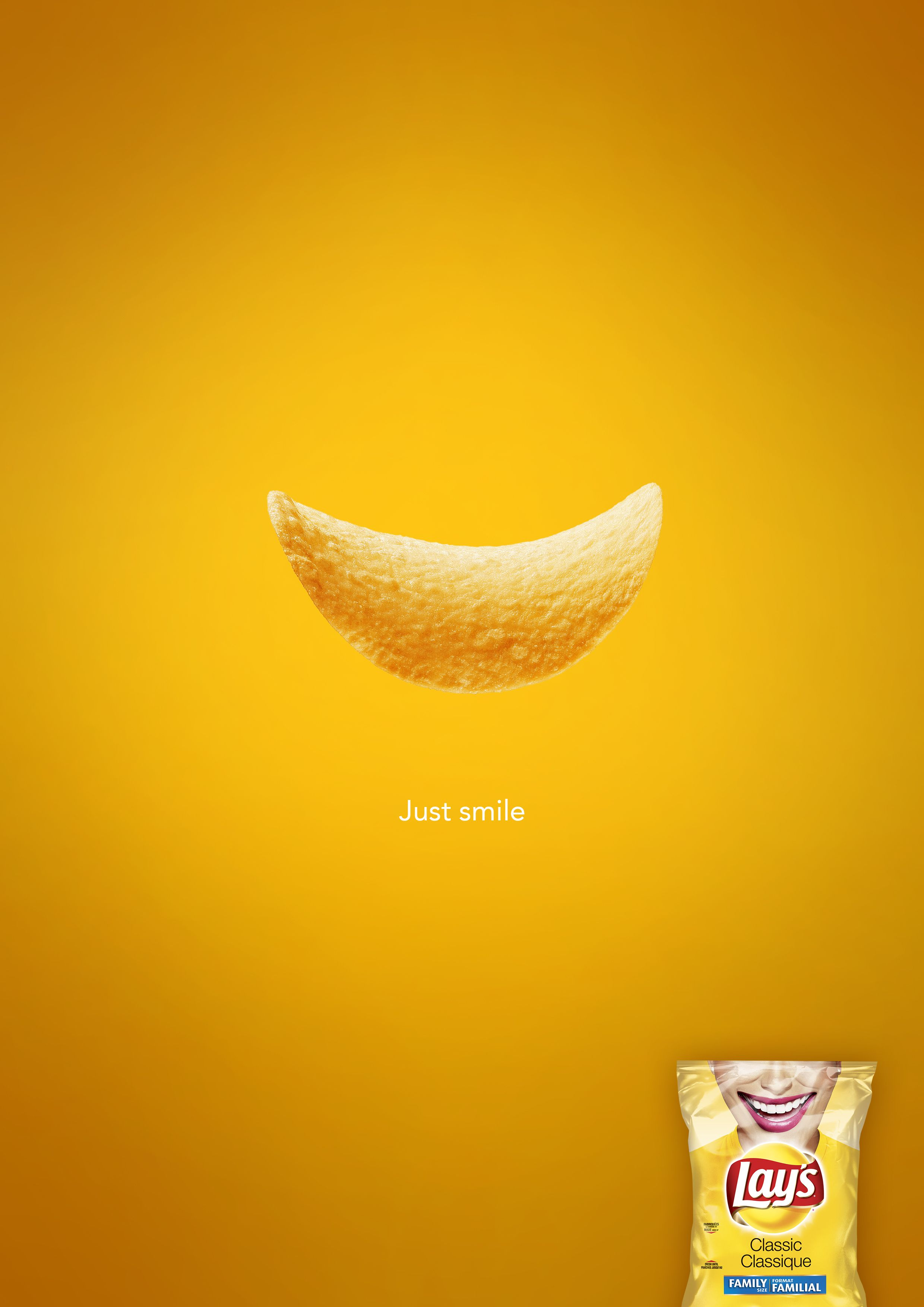 Lays minimalist advertising poster funny   Advertising ...