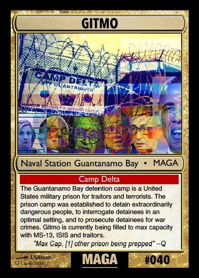 Gitmo for worst offenders | Q-anon Cards | Deck of cards ...