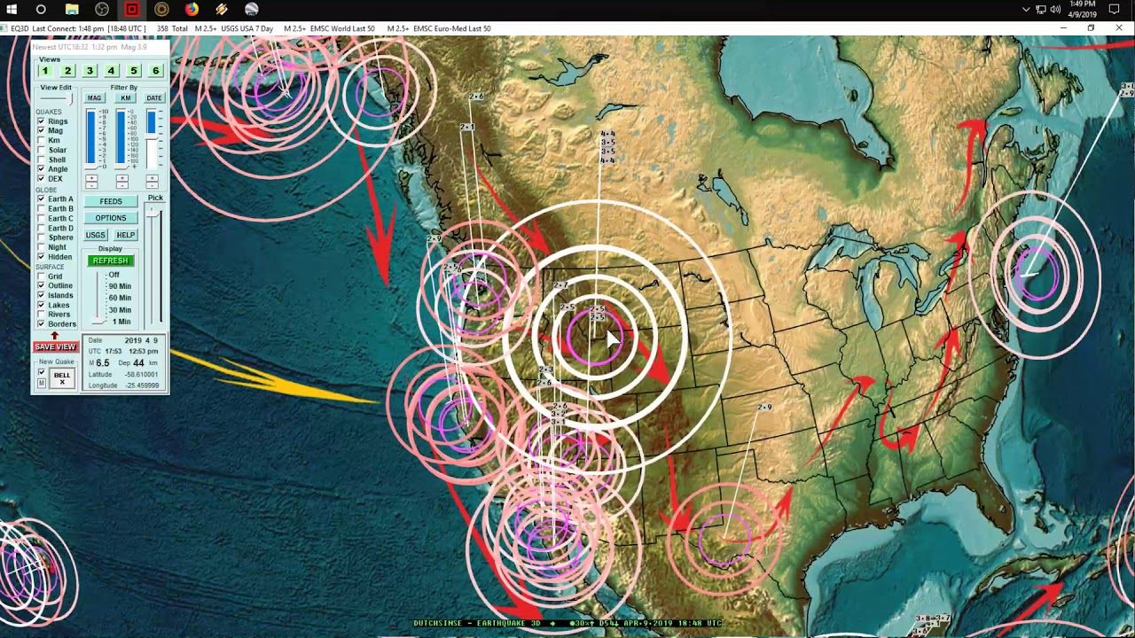 Dutchsinse ~ 3/05/2021 -- Large Earthquake Unrest -- New Forecast For USA, Europe, Asia, Central / South America
