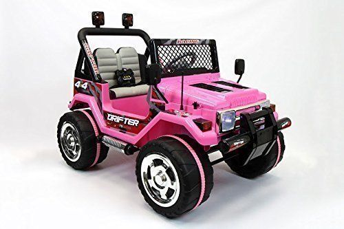 2016 Pink Jeep Wrangler Power Kids 12V Ride on Toy Remote ...