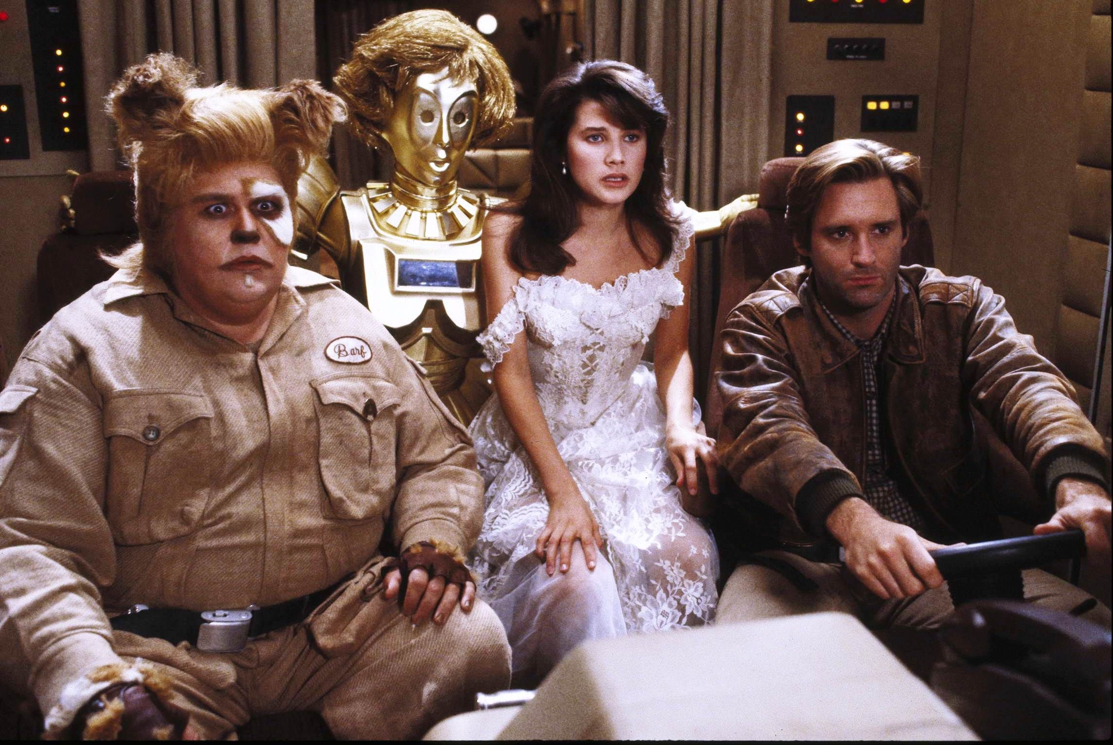 """Spaceballs"" movie still, 1987. L to R: John Candy, Lurene ..."