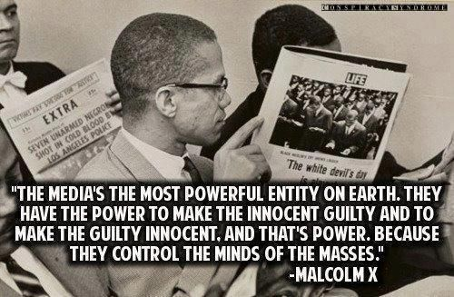 Malcolm X - The Media's The Most Powerful Entity On Earth... | Words, Love words, Mindfulness