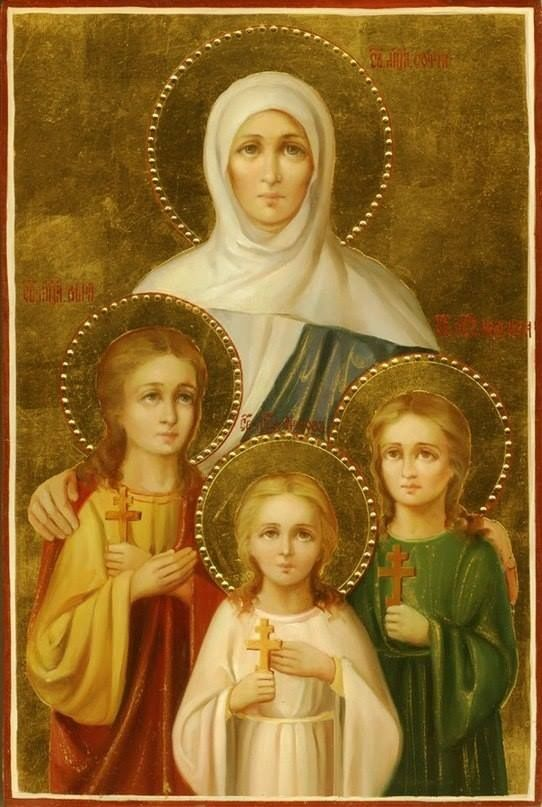 Icon of St. Sophia and her daughters, St Faith, St Hope ...