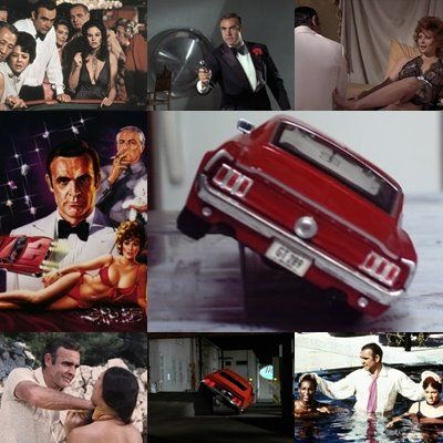 """The famous stunt performed by Sean Connery in """"Diamonds Are Forever"""" in a Ford Mustang Mach 1 ..."""