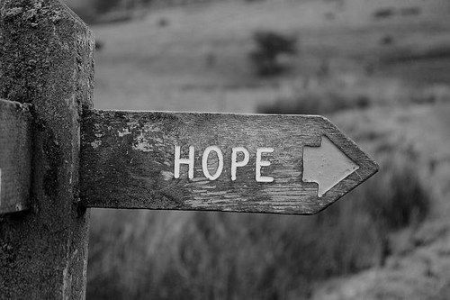 Hope: choose the right path.   Black and white photography ...