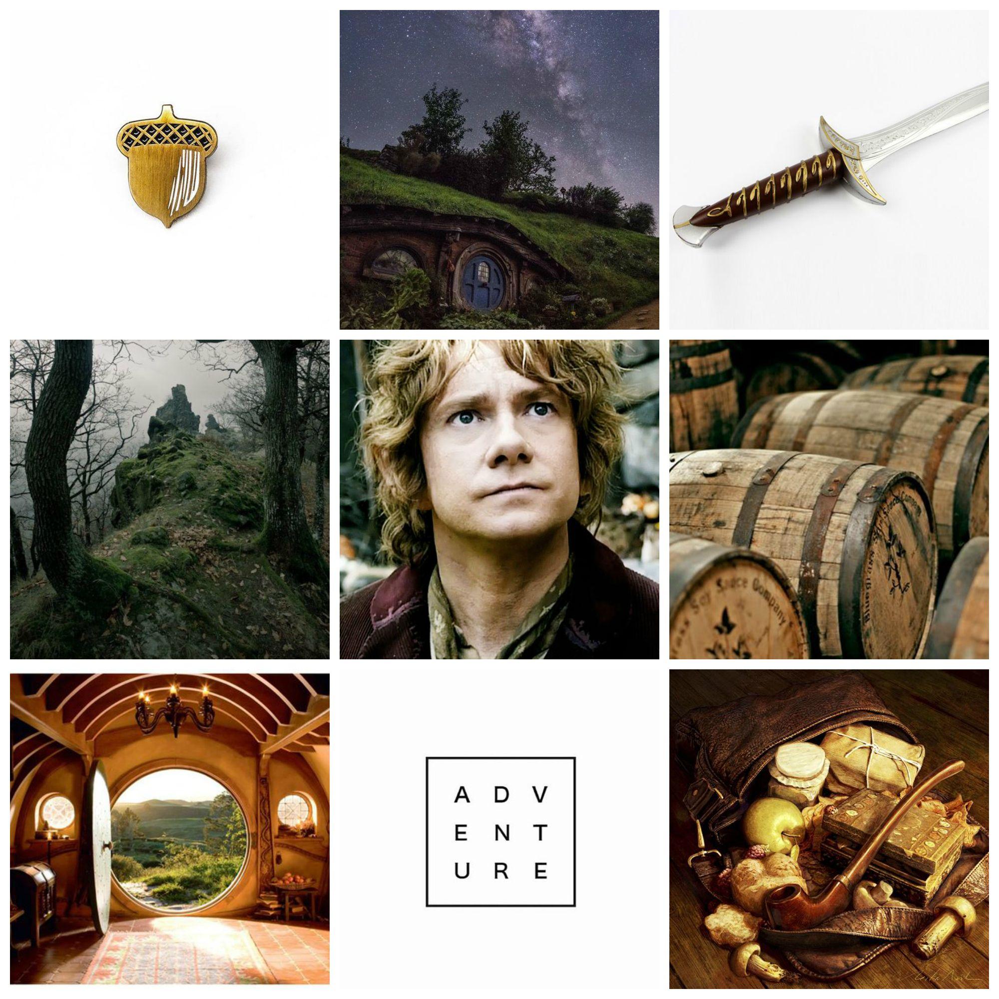 Bilbo Baggins aesthetic collage by me (с изображениями ...
