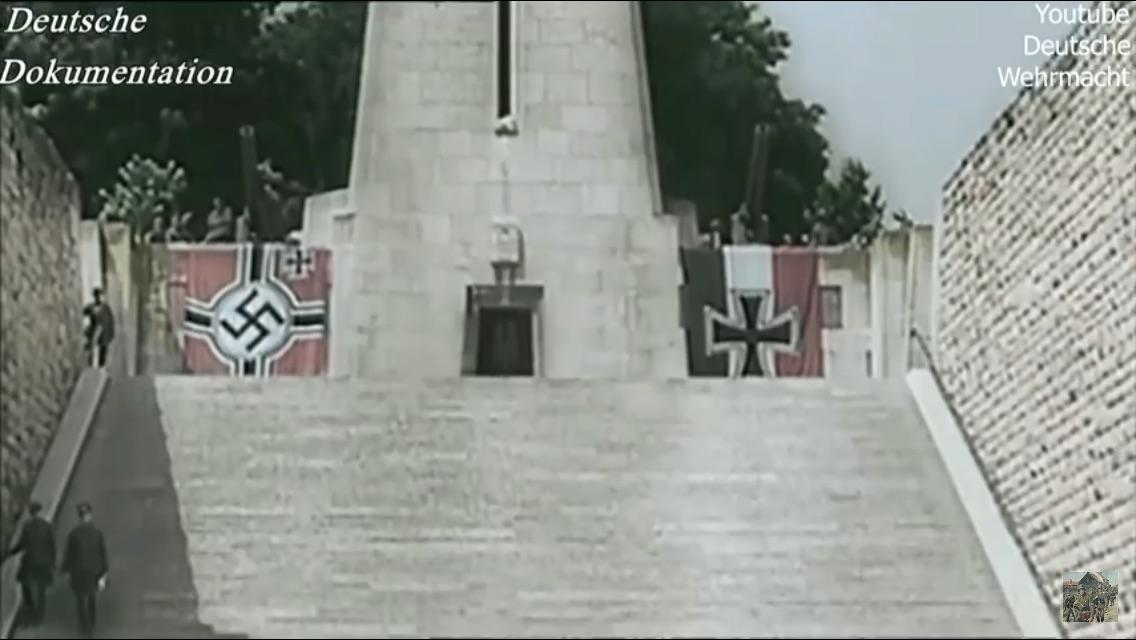 Imperial German flag hanging with the Nazi german flag in ...