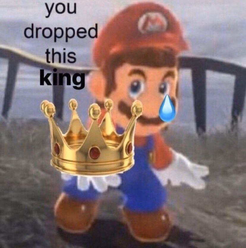 To all my Kings in chat: When a king drops his crown, we ...