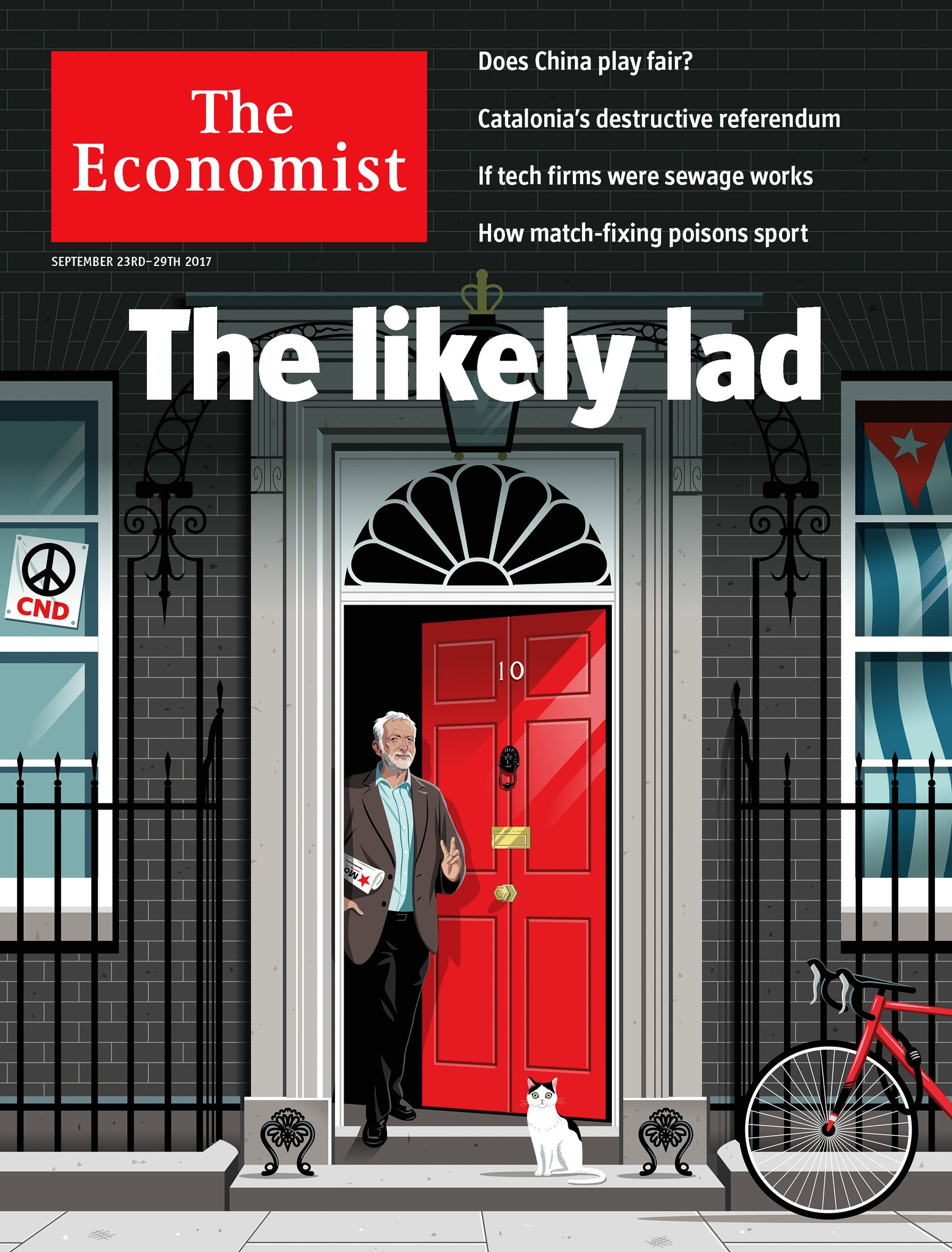 Jeremy Corbyn featured on the cover of The Economist ...