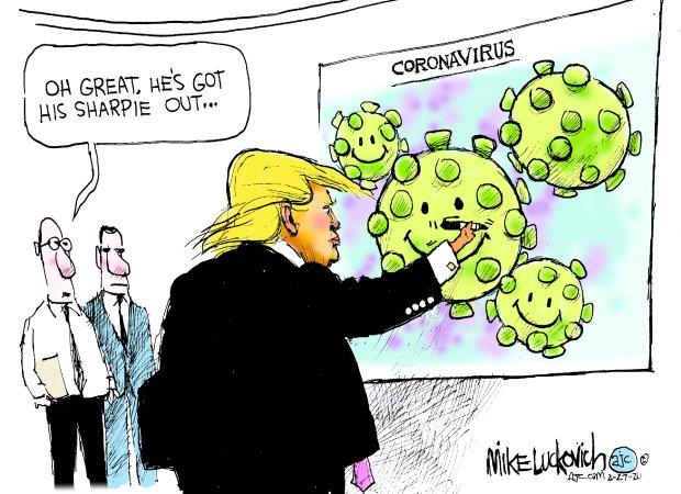 The orange clown got it all under control : CoronaVirus_2019_nCoV