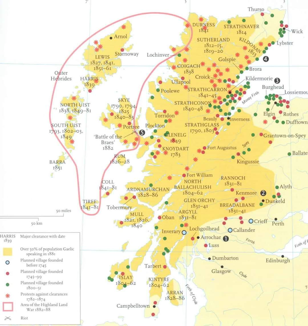 A map of the Highland Clearances : Scotland