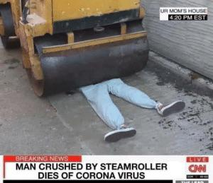Man crushed by steamroller : funny
