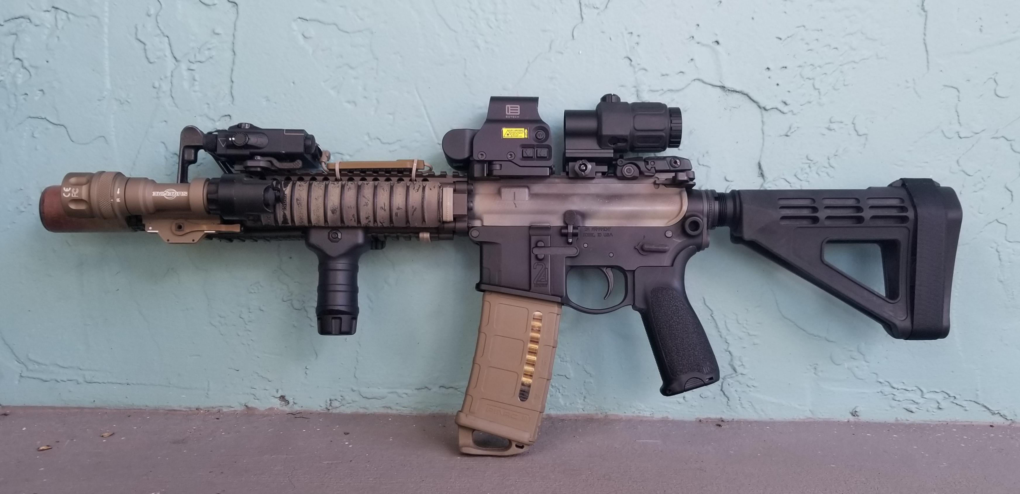 My Decked-out Castle Defender Firearm : ar15