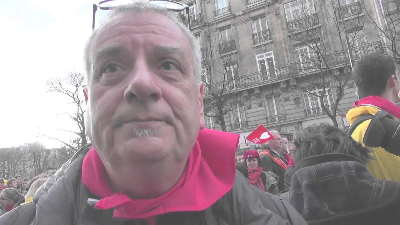 Daniel Hamiche à la Marche Pour La Vie - YouTube