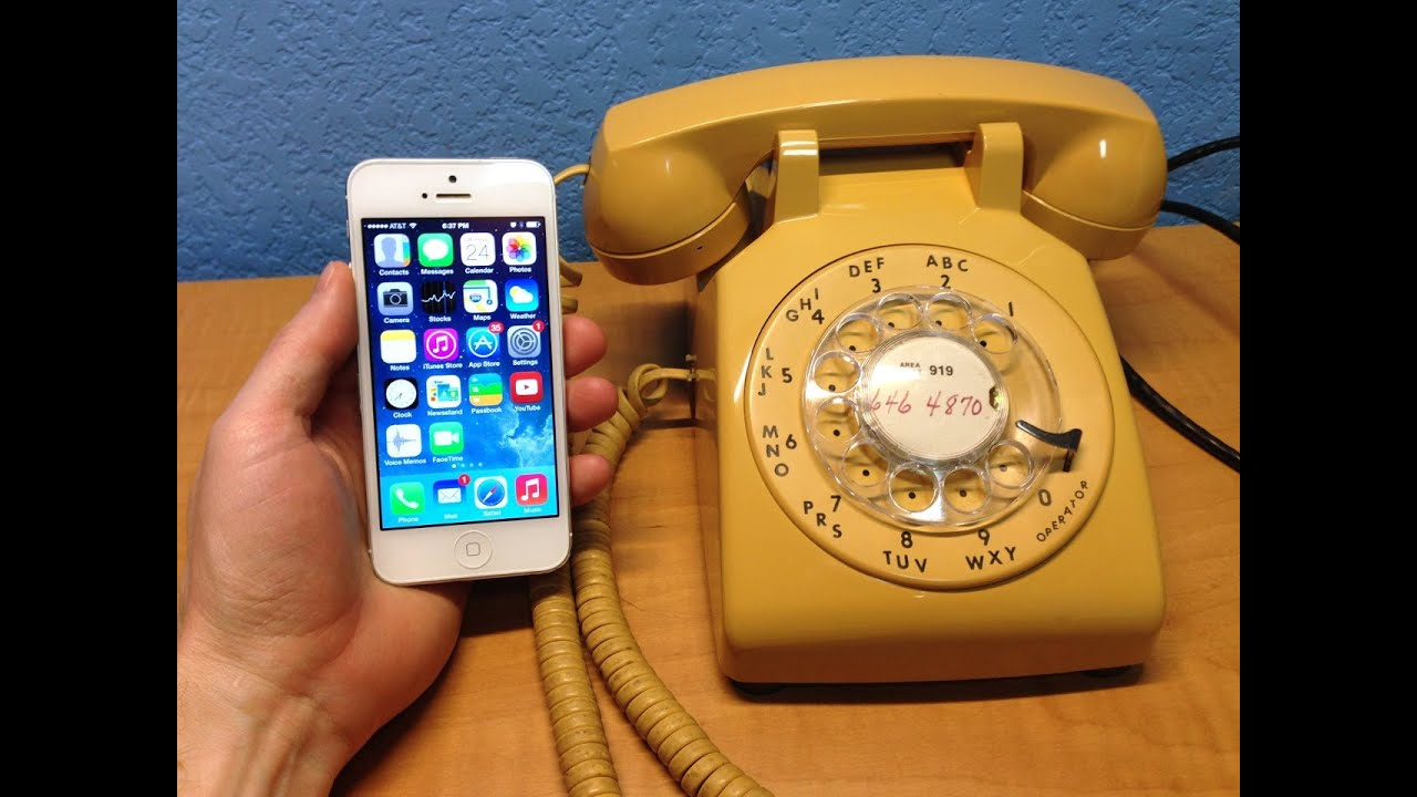 Voice Quality - iPhone 5 vs Antique Rotary Phone - YouTube