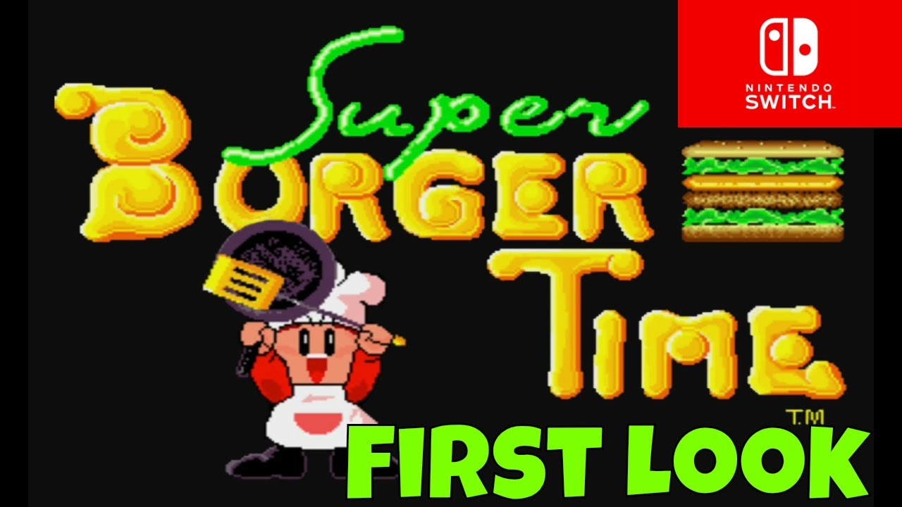 Super Burger Time for the Nintendo Switch - YouTube