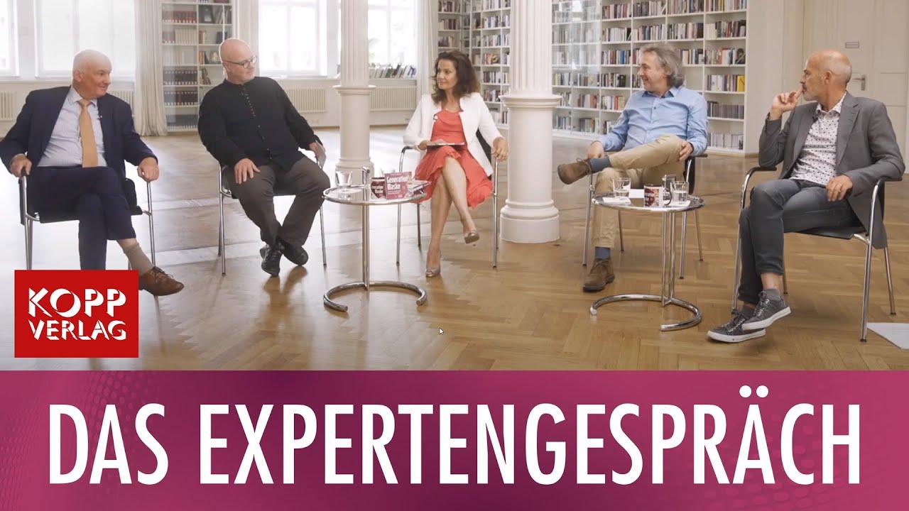 Im Expertengespräch: Stefan Hockertz, Michael Hüter, Christian Schubert und Harald Walach