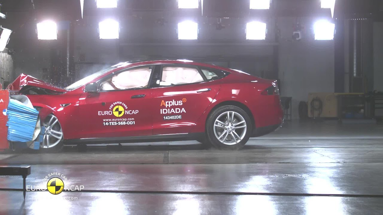 Tesla Model S: Euro-NCAP-Crashtest - YouTube