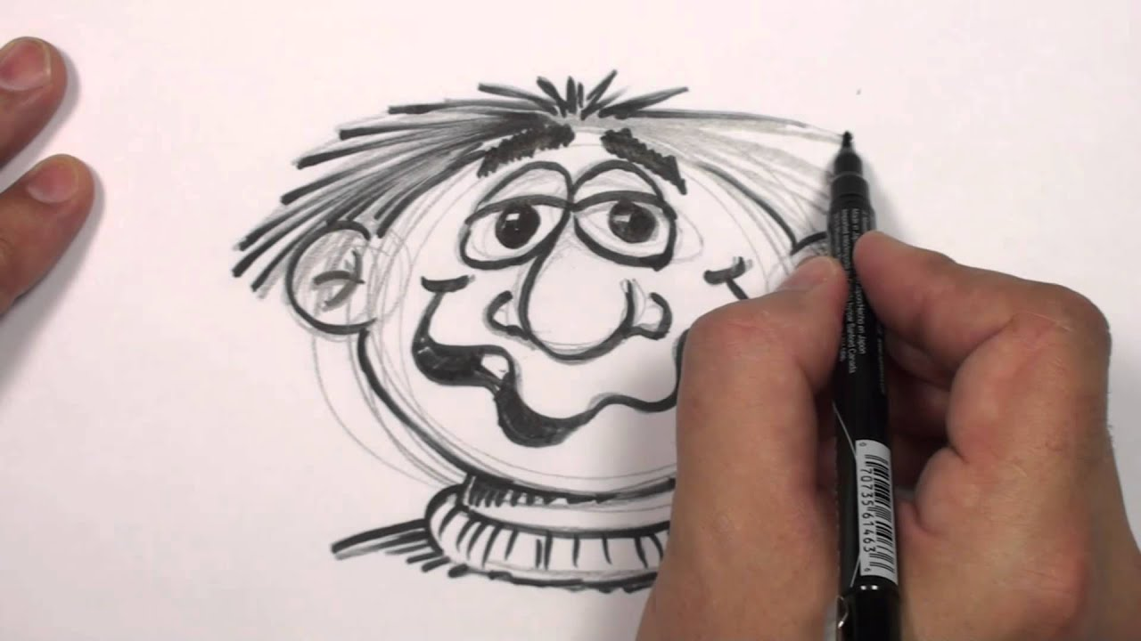 How to Draw a Cartoon Face - Funny Face Drawing Lesson ...